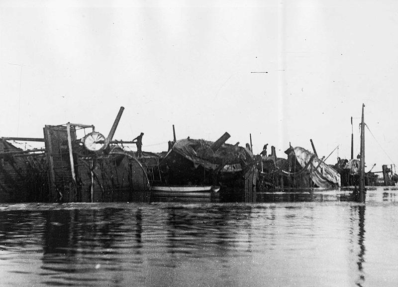Затопленный бронепалубный крейсер 'Варяг' в Чемульпо