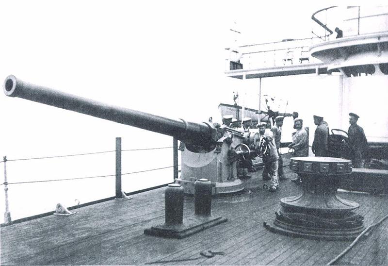 152-мм/45 орудие системы Канэ «Варяга»
