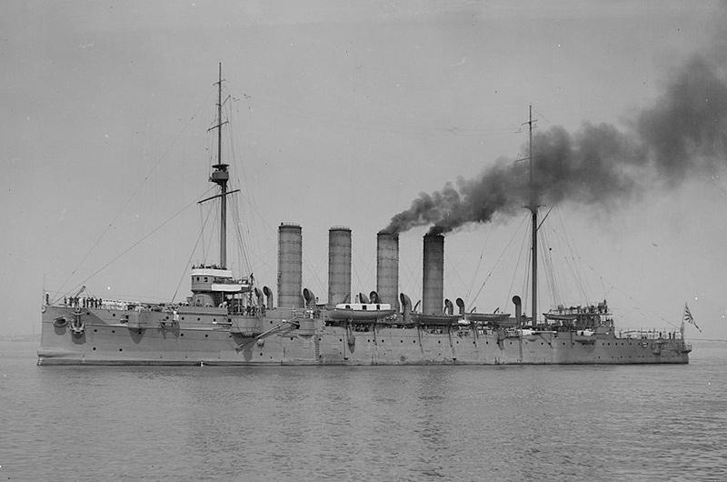 Японский крейсер «Сойя» (бывший крейсер «Варяг») между 1910 и 1915 годами
