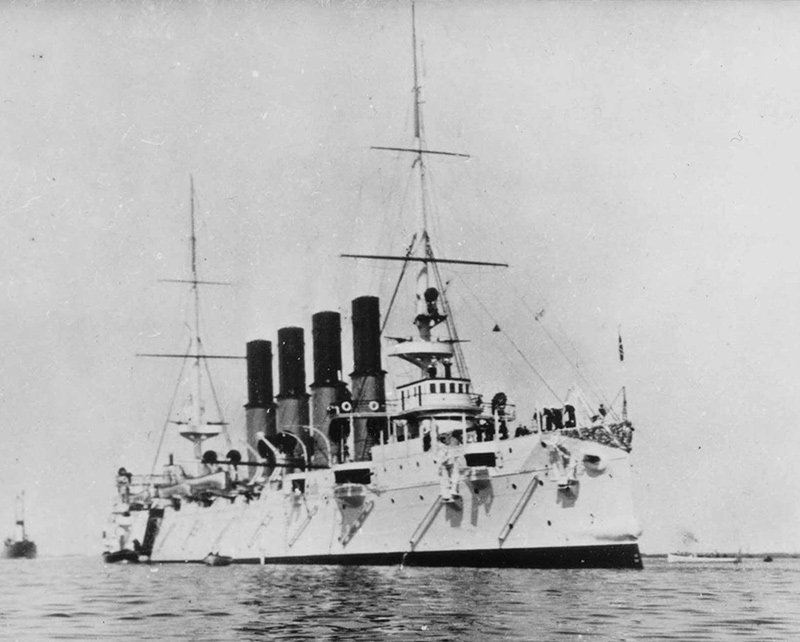 Бронепалубный крейсер 'Варяг' на Балтике