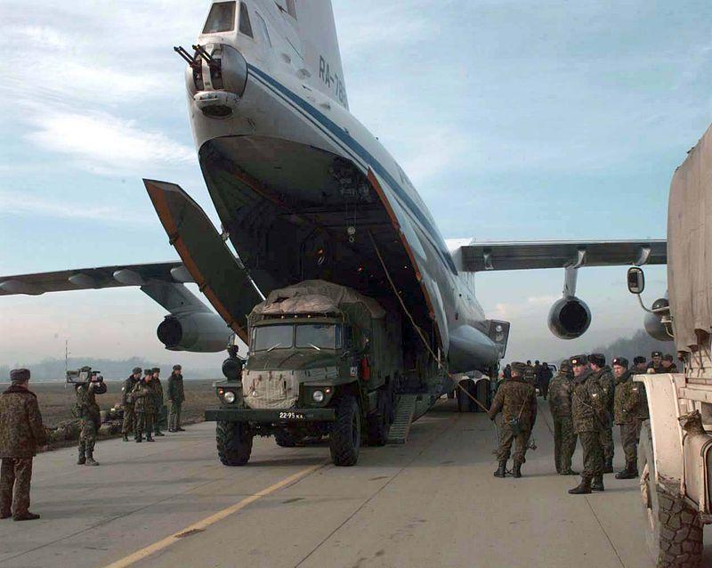 Кабина стрелка и рампа Ил-76