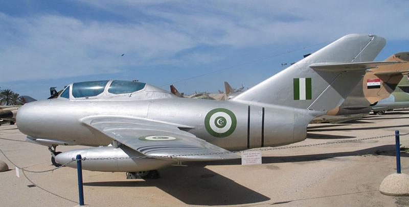 Бывший арабский МиГ-15УТИ в музее ВВС Израиля