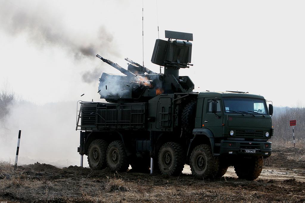 ЗРПК Панцирь-С1 (96К6) - зенитный ракетно-пушечный комплекс