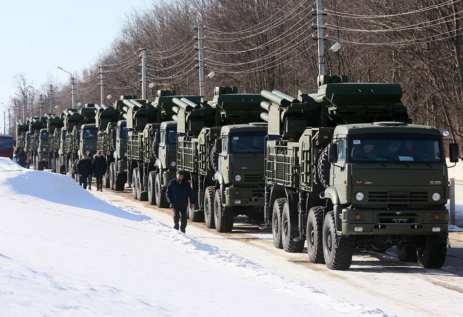ЗРПК «Панцирь-С1» на базе автомобиля 'КАМАЗ'