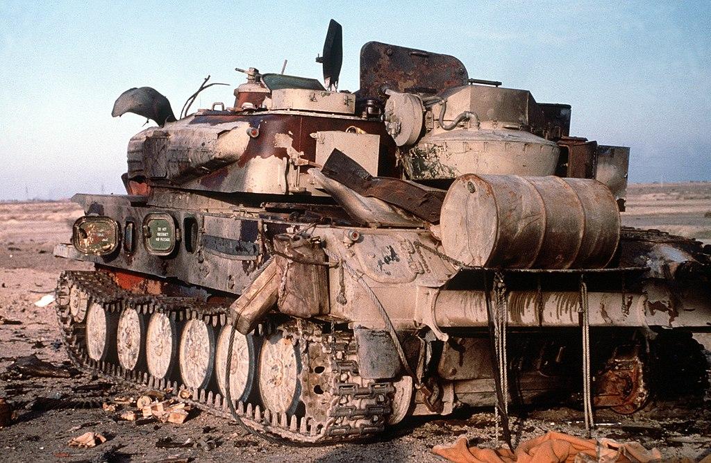 Уничтоженная иракская ЗСУ-23-4 «Шилка», операция «Буря в пустыне»
