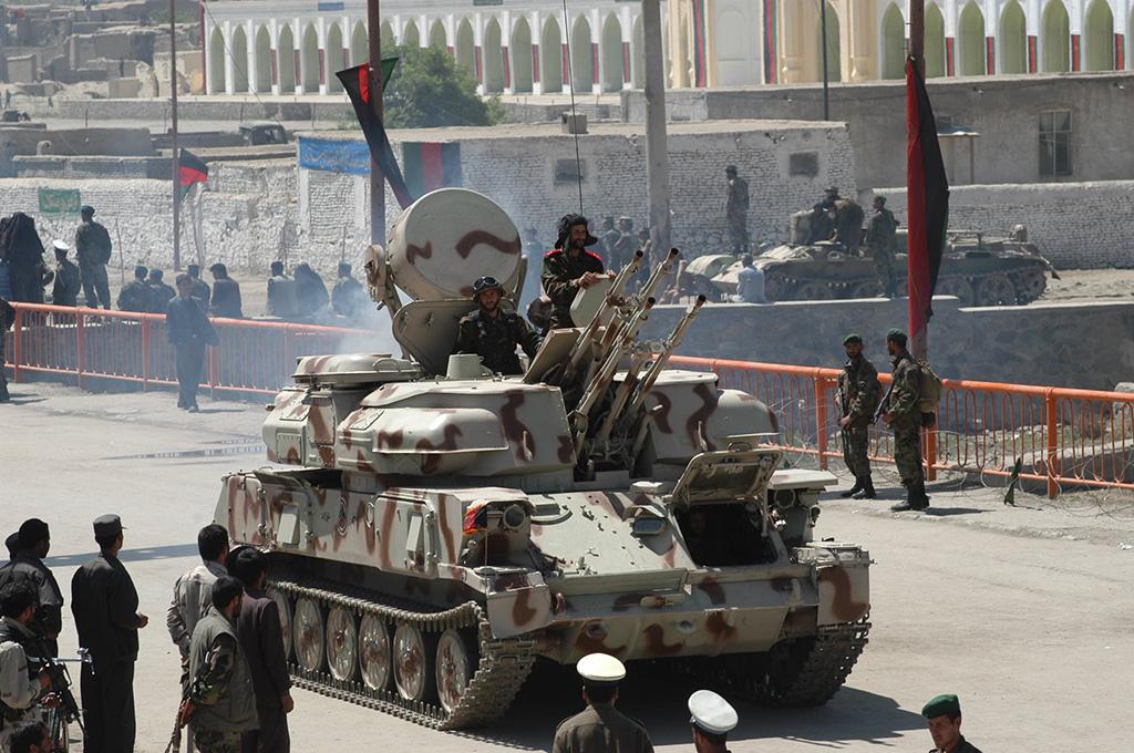 Самоходная зенитная установка ЗСУ-23-4 Шилка в Кабуле вооружённых сил Демократической Республики Афганистан