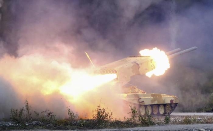 ТОС-1 'Буратино' (ТОС-1А «Солнцепек») тяжелая огнеметная система