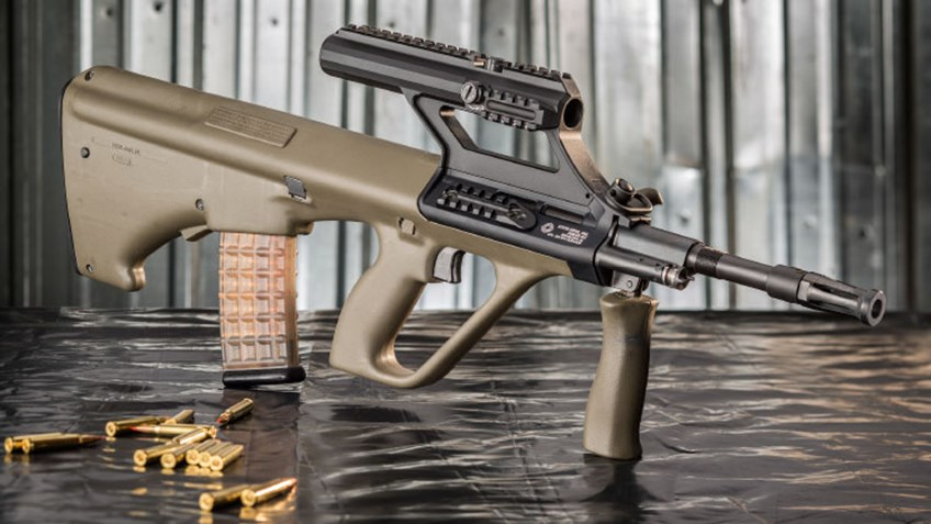 Steyr AUG (A1, A2, A3) - армейская универсальная винтовка