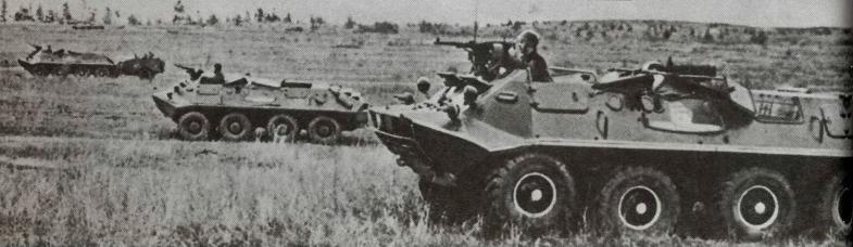 Бронетранспортер БТР-60П во время атаки