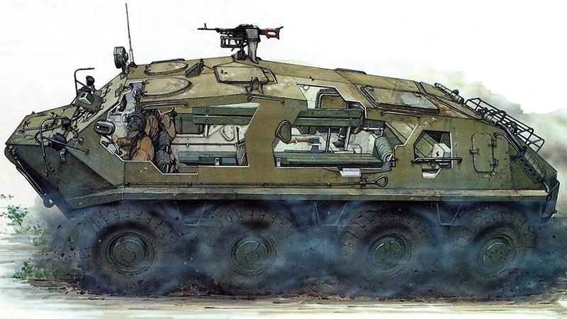 БТР-60ПА в разрезе