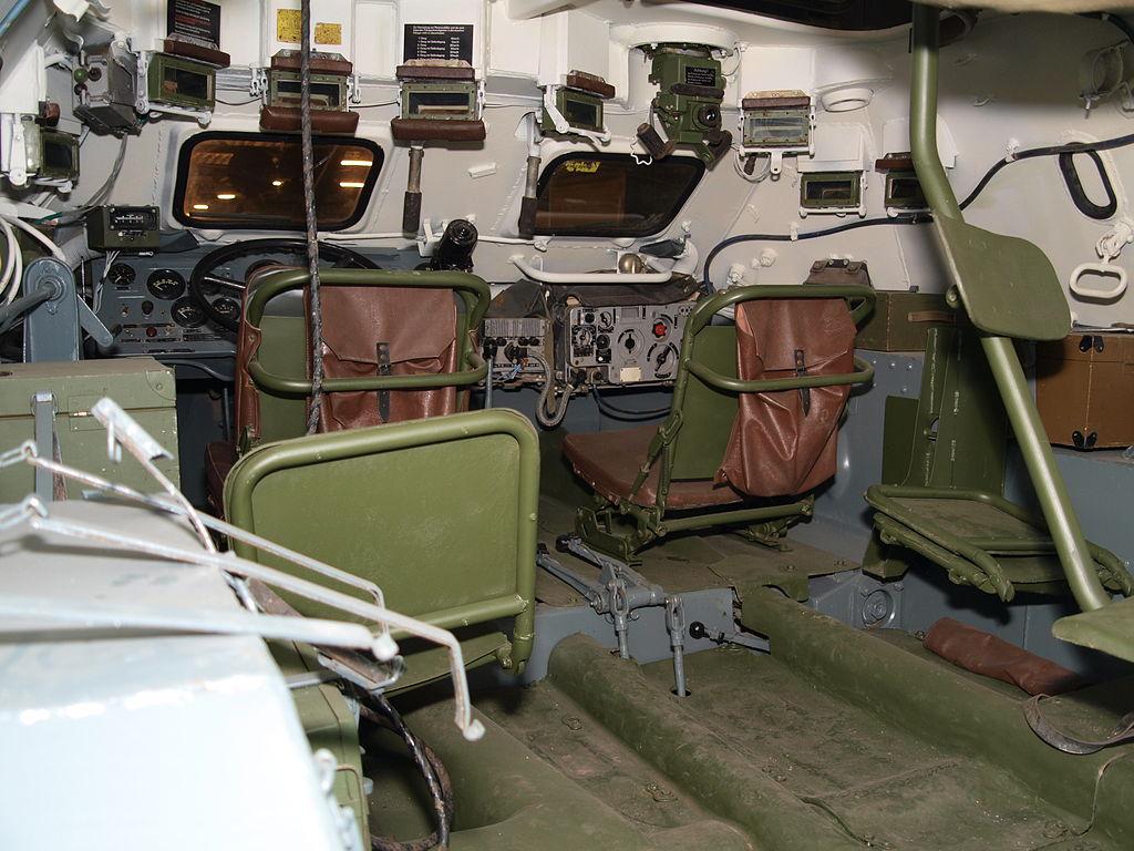 Внутри БТР-60
