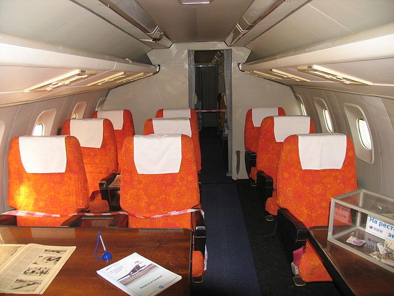 Салон первого класса Ту-144