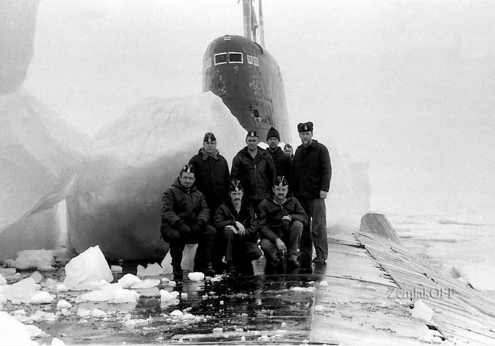 ТРПКСН ТК-202 пр. 941 «Акула». Второй корабль серии. Июль 1990 г. Арктика 87 гр. с.ш.