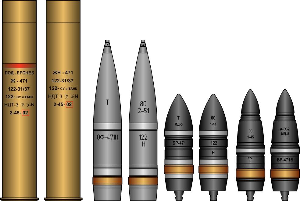 Гильзы и снаряды танковой пушки Д-25Т