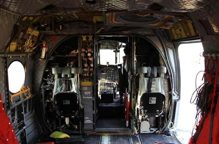 Внутри CH-47D Chinook