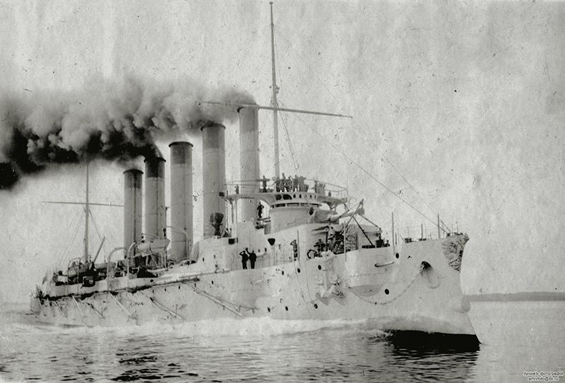 Крейсер «Аскольд» на ходовых испытаниях