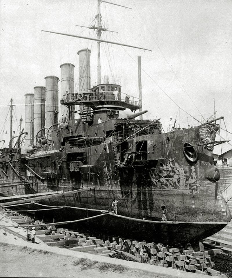 Бронепалубный крейсер I-го ранга 'Аскольд' в Циндао