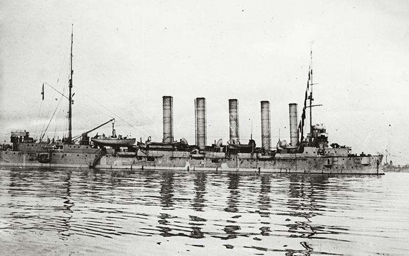 Крейсер «Аскольд» в составе союзной эскадры