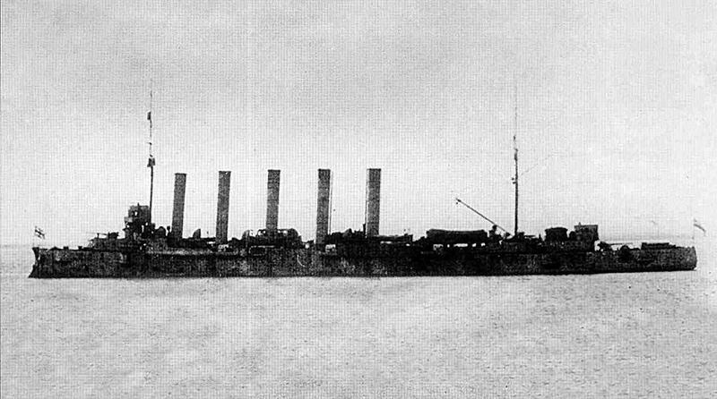 Крейсер «Аскольд» (Глори IV) под английским флагом, август 1918 года