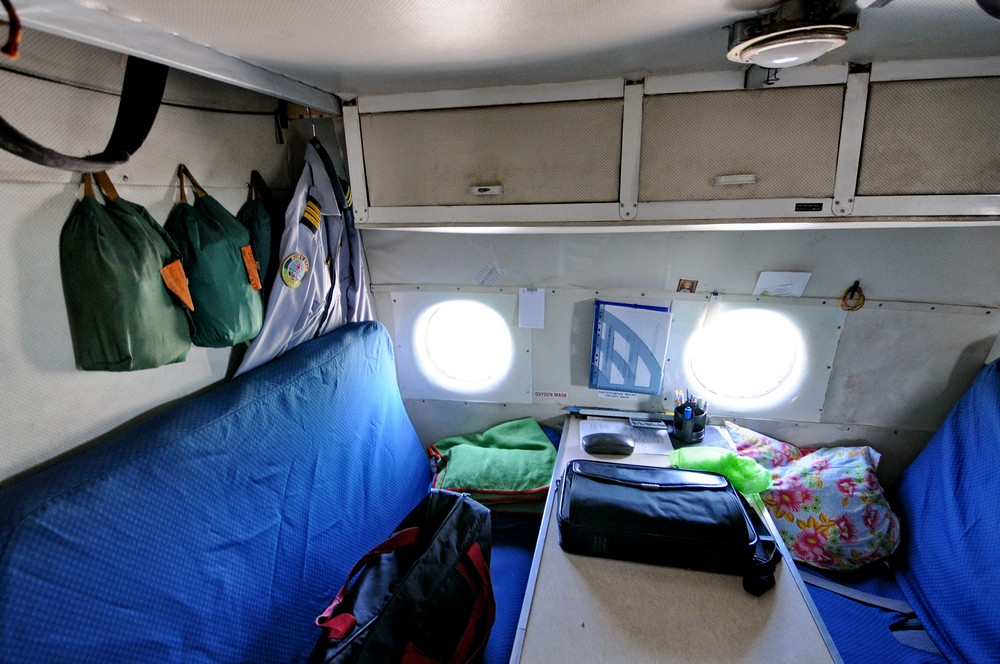 Комната отдыха экипажа Ан-12