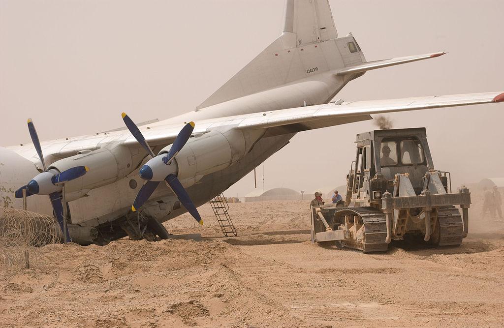 Авария <a href='https://arsenal-info.ru/b/book/3039497517/52' target='_blank'>Ан-12 в Афганистане</a>. Самолёт был списан