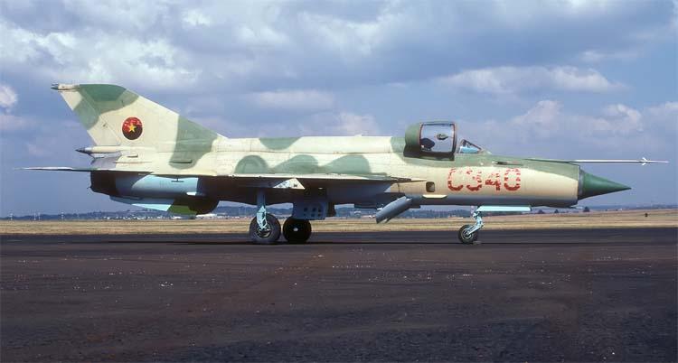 МиГ-21бис ВВС Анголы