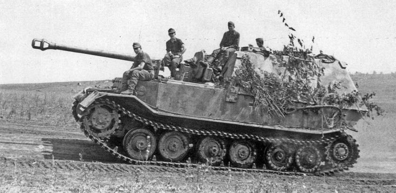 Немецкая САУ «Фердинанд» на Курской дуге