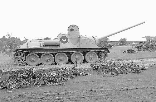 Египетская Су-100 захваченная англичанами