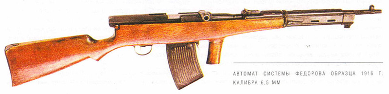 Автомат Фёдорова образца 1916 года калибр 6,5-мм