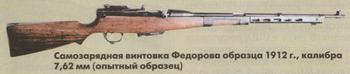 Автомат Фёдорова образца 1912 года калибр 7,62-мм (опытный образец)