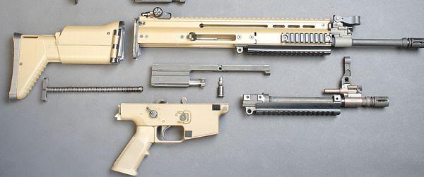 Неполная разборка винтовки FN SCAR L со стандартным и коротким стволом