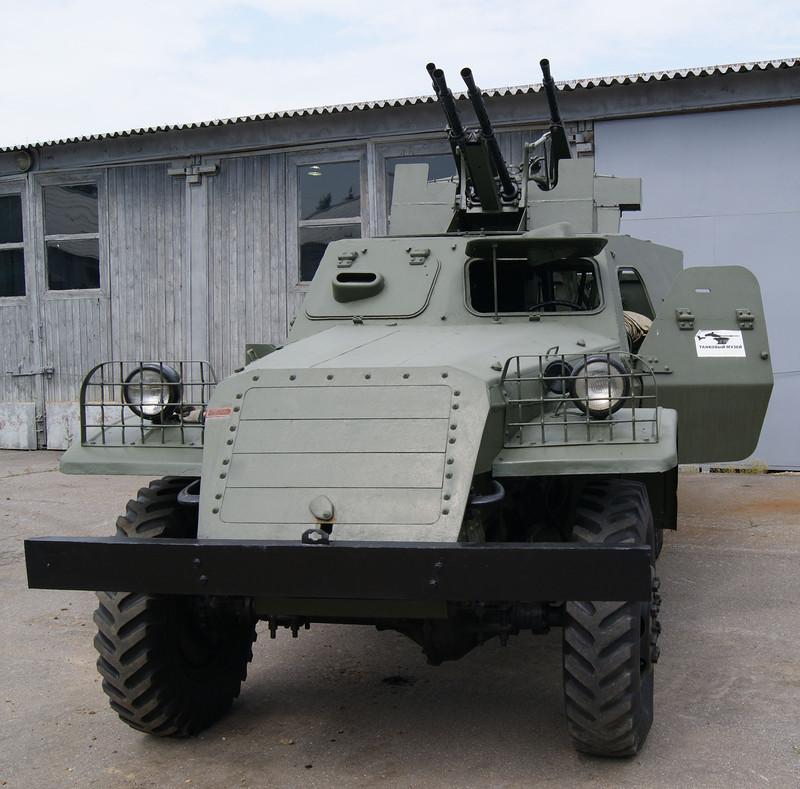 БТР-152А с зенитной установкой ЗПТУ-4