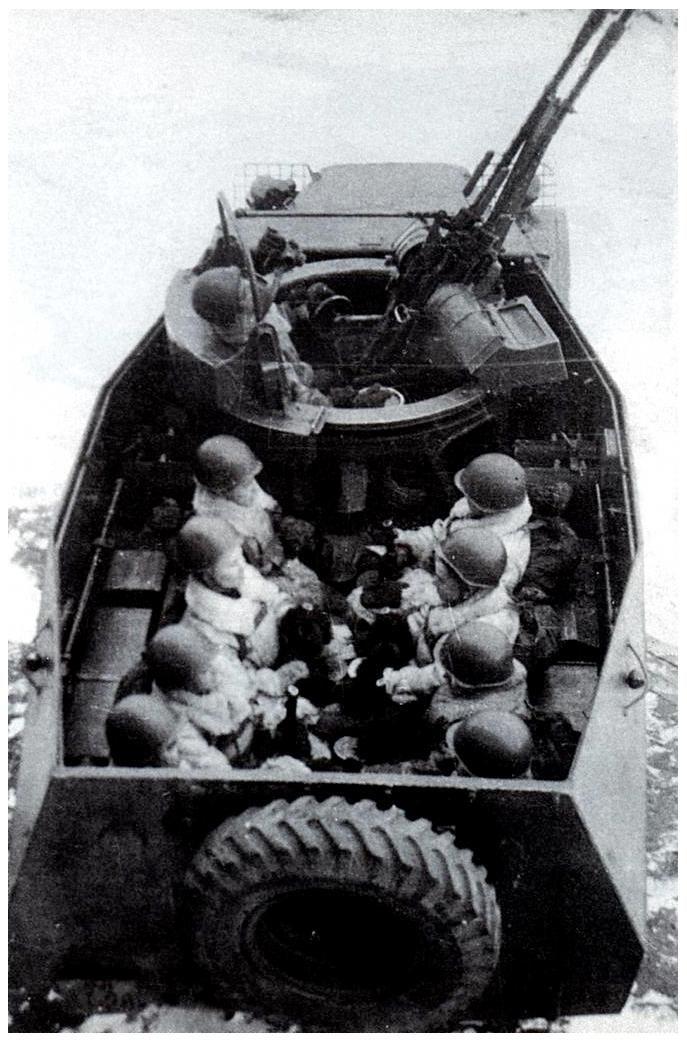 БТР-152А с зенитной установкой ЗПТУ-2