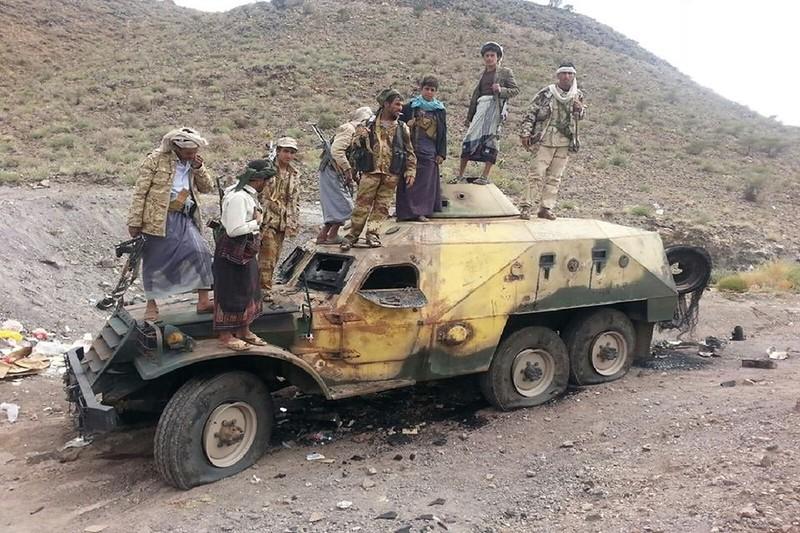 Сгоревший БТР-152К южан-суннитов