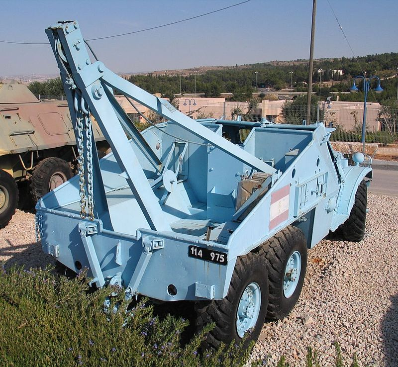 БРЭМ на базе БТР-152, использовавшаяся ливанской армией