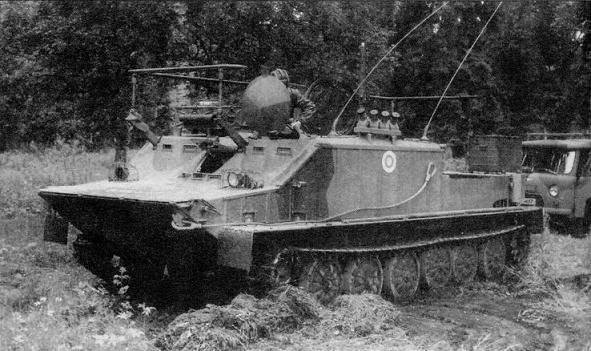 Модернизированная командно-штабная машина БТР-50ПУМ