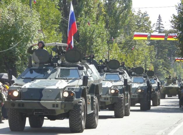 КамАЗ-43269 «Выстрел» (БПМ-97) на параде в Южной Осетии