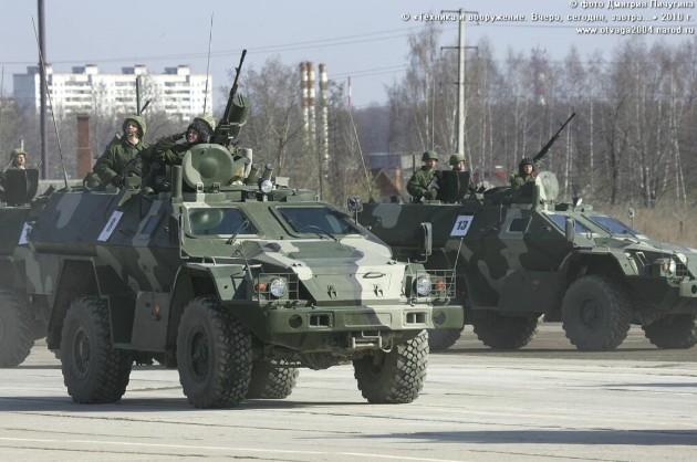 КамАЗ-43269 «Выстрел» (БПМ-97) с КОРДами и ПКТ на репитиции парада