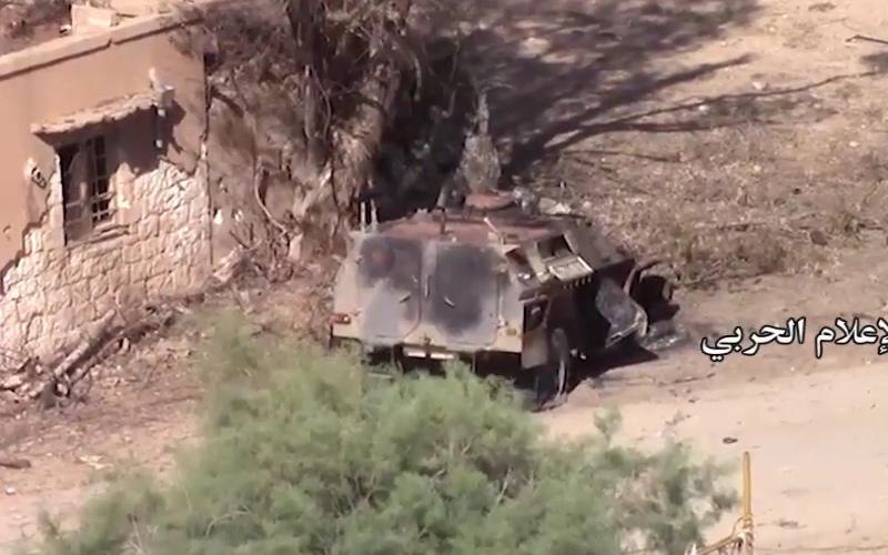 Подбитый в Сирии КамАЗ-43269 «Выстрел»