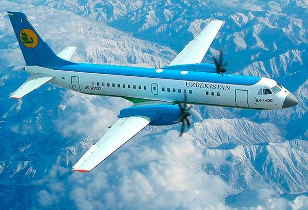 Фото Ил-114-100 узбекских авиалиний