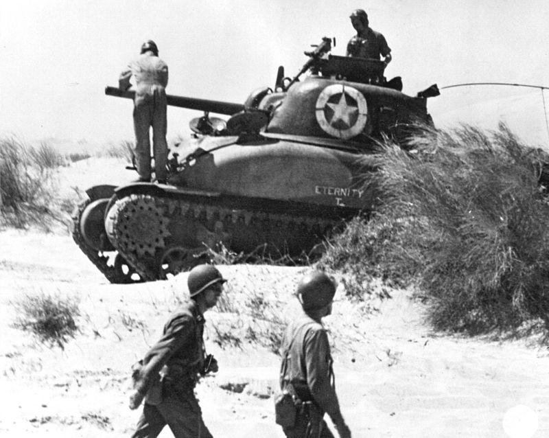 M4A1 в Сицилии. 1943 год