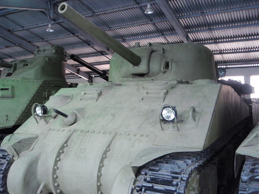 M4A4 в Бронетанковом музее в Кубинке