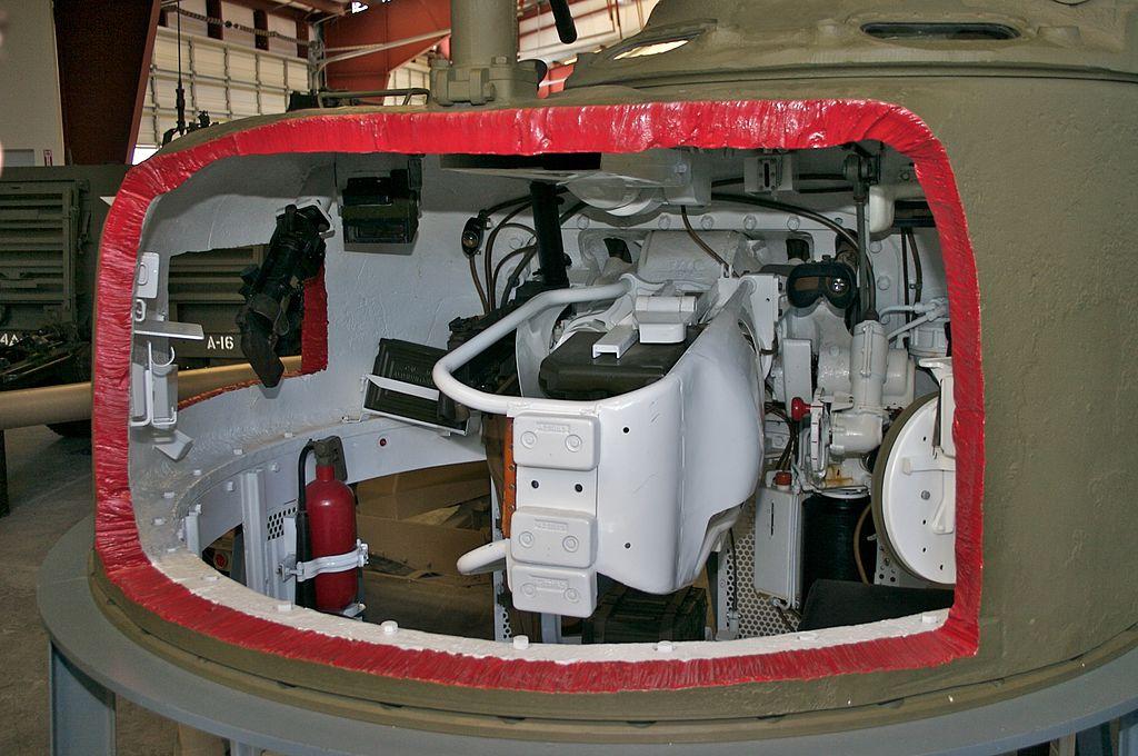 Танковая башня в разрезе
