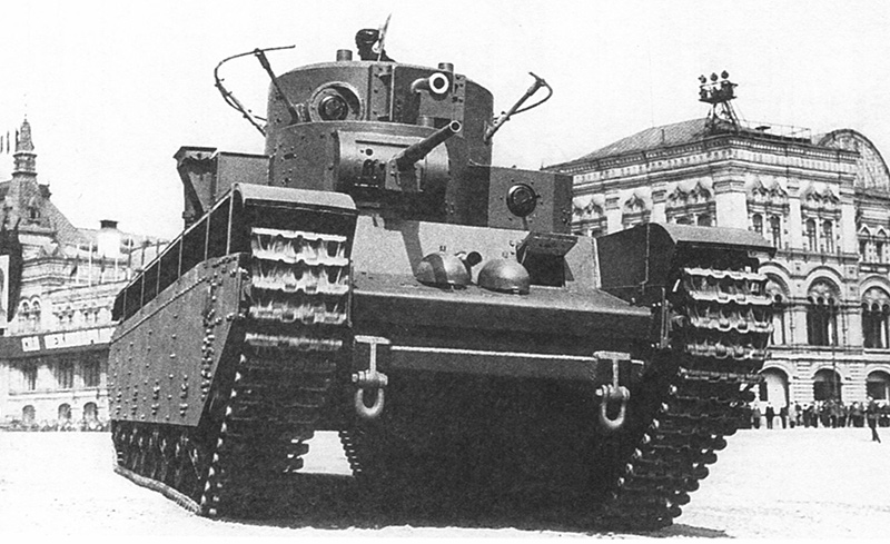 Т-35 - пятибашенный танк