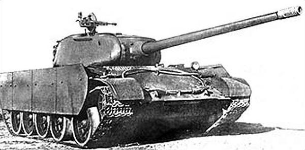 Т-44-100 со стальными противокумулятивными экранами и пушкой ЛБ-1