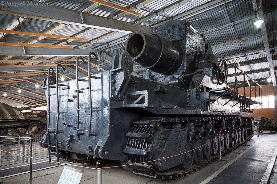 Фото мортиры «Карл» в музее бронетехники в Кубинке
