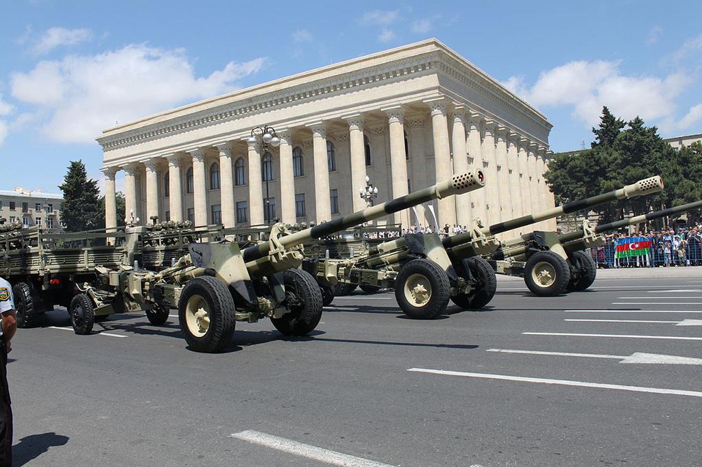 Пушка М-46 вооруженных сил Азербайджана