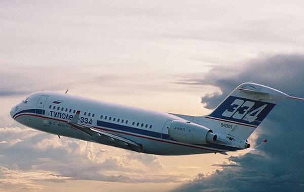 Фото Ту-334 в полете