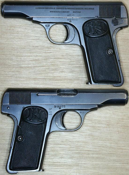 Пистолет Браунинг 1910 года калибра 9 мм