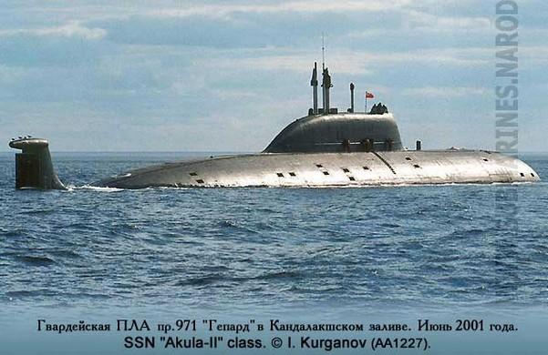 Атомная подводная лодка К-335 'Гепард'